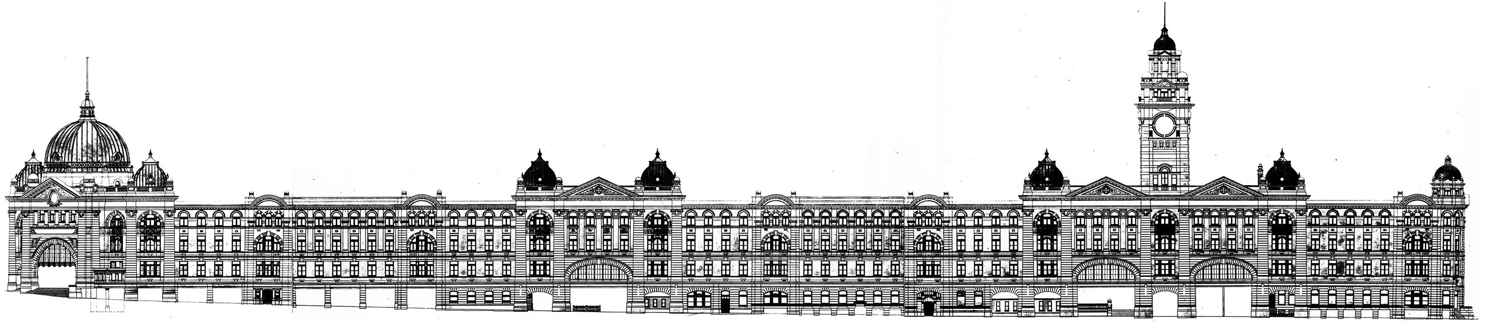 Flinders Street Station Front Elevation